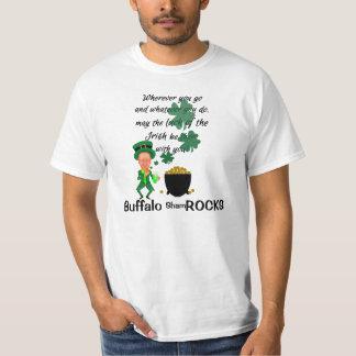 St Patrick's Day Funny Leprechaun Buffalo NY Rocks T-Shirt