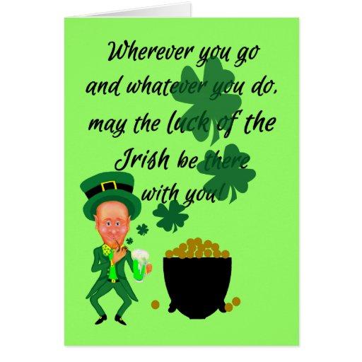 St Patricks Day Funny Leprechaun Irish Blessing Greeting
