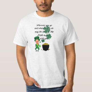 St Patrick's Day Funny Leprechaun Irish Blessing T-Shirt