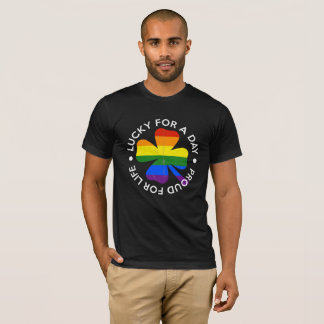 St Patrick's Day Gay Pride Rainbow LGBT Gift Tee