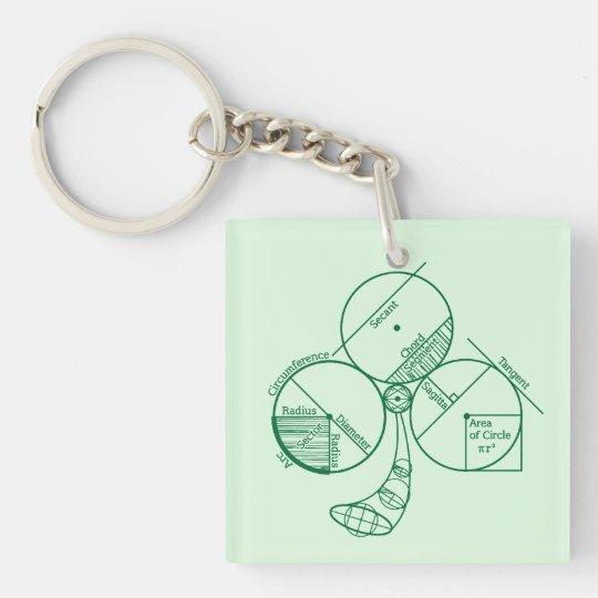 St. Patrick's Day Geometry Keychain