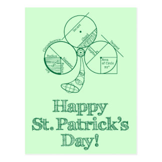 St. Patrick's Day Geometry Post Card