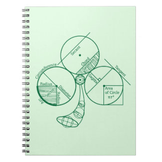 St. Patrick's Day Geometry Spiral Notebook