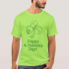 St Patrick's Day Geometry T-shirt at Zazzle