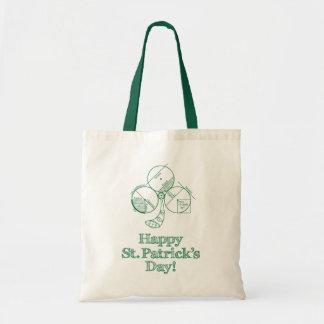 St. Patrick's Day Geometry Tote Bag