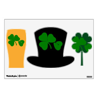 St Patrick's Day - Get Lucky 3+1 = 4 Wall Sticker