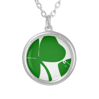 St Patrick's Day - Get Lucky 3 + 1 leaves = 4 Silver Plated Necklace