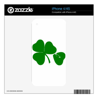 St Patrick's Day - Get Lucky 3 + 1 leaves = 4 Skin For The iPhone 4S