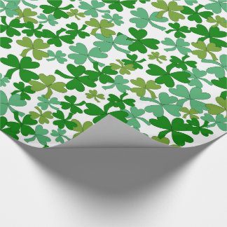 St Patrick's Day Gift Wrap Shamrocks Custom Color