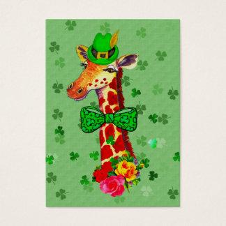 St. Patrick's Day Giraffe Business Card