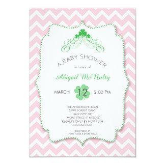 St Patrick's Day Girl Baby Shower Invites