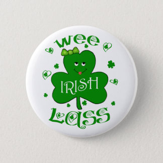 St. Patrick's Day Girl's Button