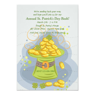 St. Patrick's Day Gold Card