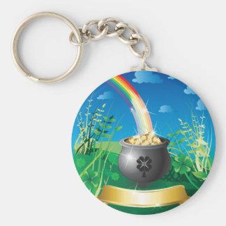 St. Patrick's Day Gold Rainbow Key Chain