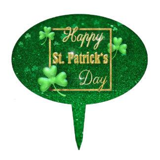 St. Patrick's Day Gold Shamrock - Cakepick