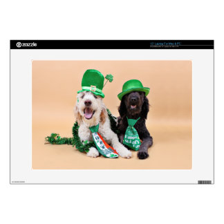 "St Patricks Day - GoldenDoodles - Sadie and Izzie Skins For 15"" Laptops"