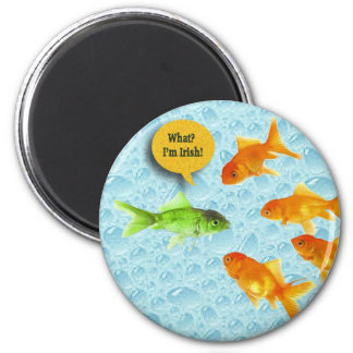 St. Patrick's Day, Goldfish Humor 2 Inch Round Magnet