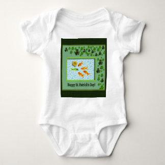 St. Patrick's Day, Goldfish Humor Baby Bodysuit