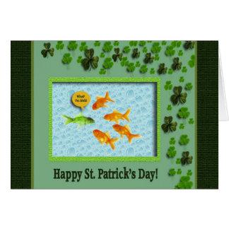 St. Patrick's Day, Goldfish Humor Card