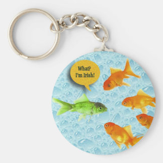 St. Patrick's Day, Goldfish Humor Keychain