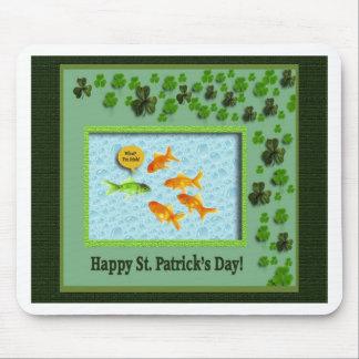 St. Patrick's Day, Goldfish Humor Mouse Pad