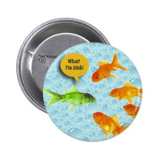 St. Patrick's Day, Goldfish Humor Pinback Button