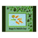 St. Patrick's Day, Goldfish Humor Post Cards