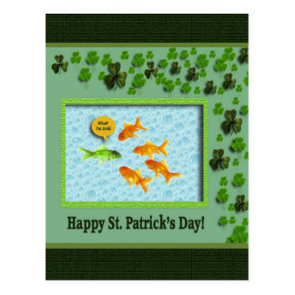 St. Patrick's Day, Goldfish Humor Postcard
