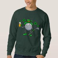 St Patrick's Day Golf Golfing Golfer Beer Sweatshirt