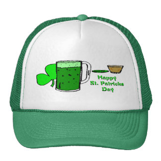 St Patrick's Day Green Beer 3 Mesh Hats