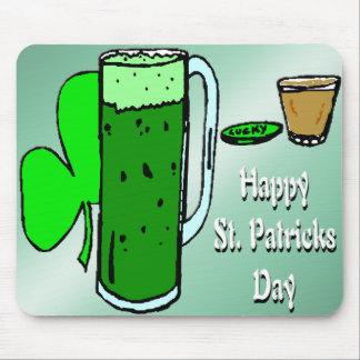 St Patrick's Day Green Beer 3 Mouse Pad