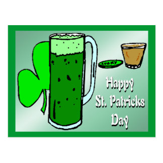St Patrick's Day Green Beer 3 Postcard