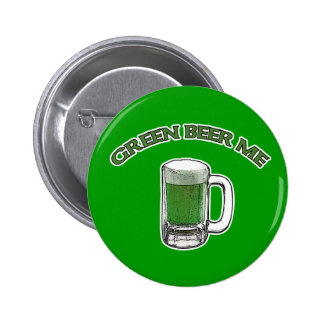 St. Patrick's Day Green Beer Me Buttons