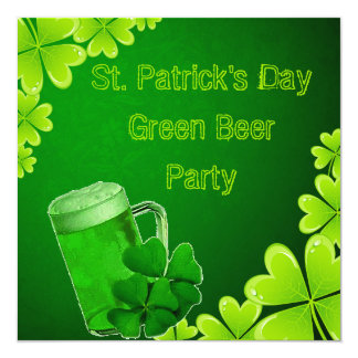 St. Patrick's Day Green Beer Party Card