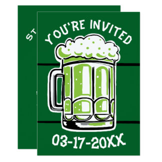 St. Patrick's Day Green Beer Party Invitation