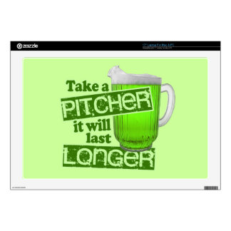 St. Patrick's Day Green Beer Laptop Skins