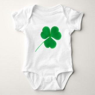 St. Patrick's Day Green Clover Baby Bodysuit
