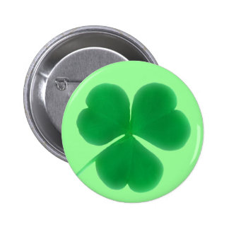 St. Patrick's Day Green Clover Button