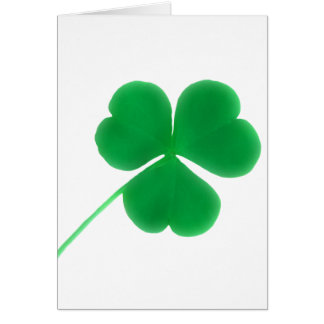 St. Patrick's Day Green Clover Card