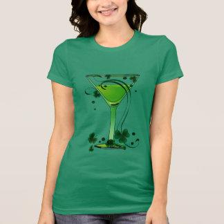 St Patricks Day Green Cocktail Ladies Jersey Shirts