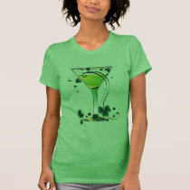 St Patricks Day Green Cocktail Ladies Spaghetti T-Shirt
