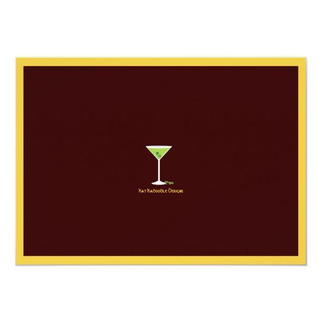 St. Patrick's Day Green Cocktails & Beer 5x7 Paper Invitation Card (back side)