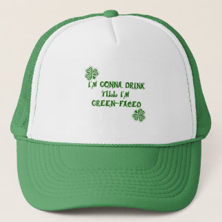 St. Patrick's Day Green Faced Products Trucker Hat