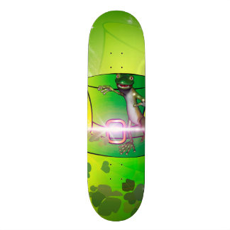 St. Patrick's Day, green hat and gecko Skate Board Deck