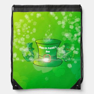St. Patrick's Day, green hat Cinch Bag