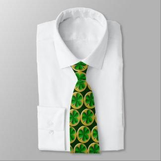St Patrick's Day Green Irish Clover Shamrock Tie