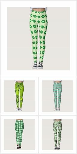 St Patrick's Day Green  Leggings