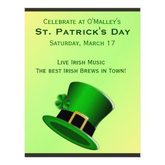 St Patrick's Day Green Leprechaun Hat Irish Pub Flyer