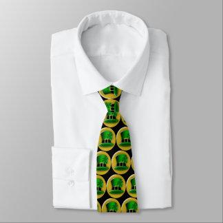 St Patrick's Day Green Leprechaun Hat Neck Tie