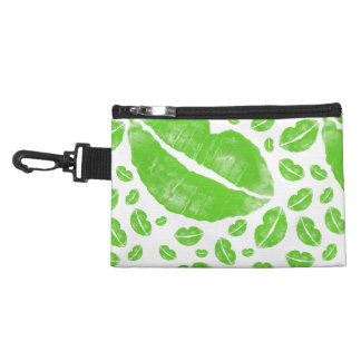 St Patrick's Day Green Lips Random Collage Accessory Bag